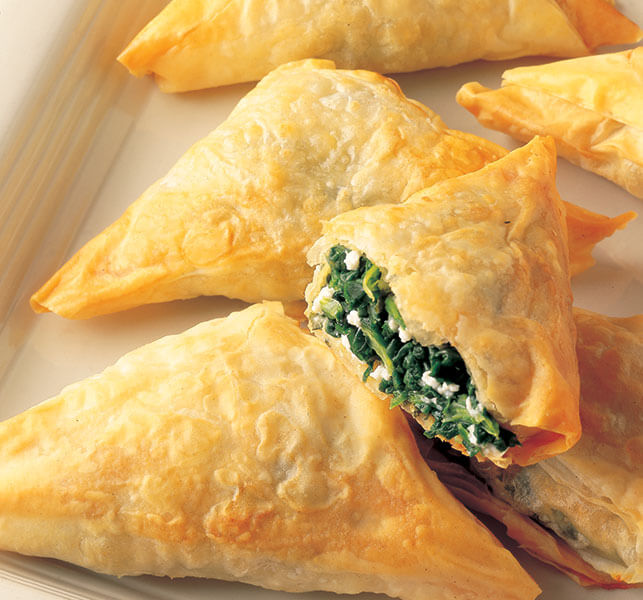 Spanakopita (Spinach & Cheese Phyllo Triangles) - Athens Foods