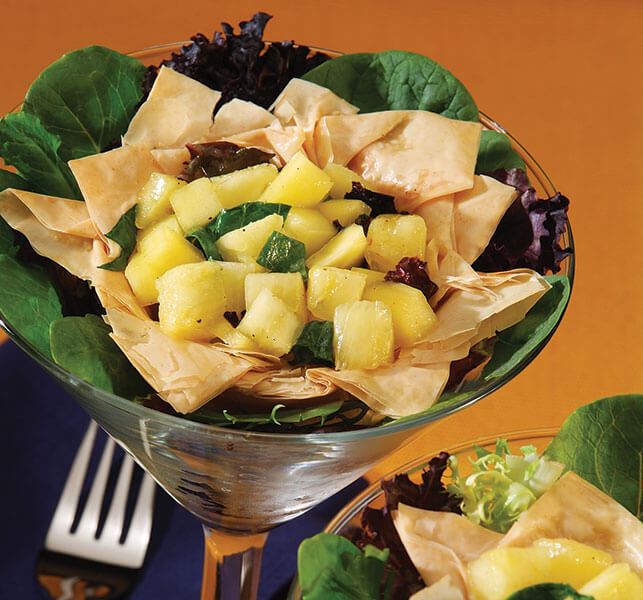 Tropical Fruit Salad Phyllo Cups - Athens Foods