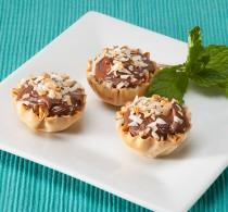 Nutella Coconut Phyllo Tarts