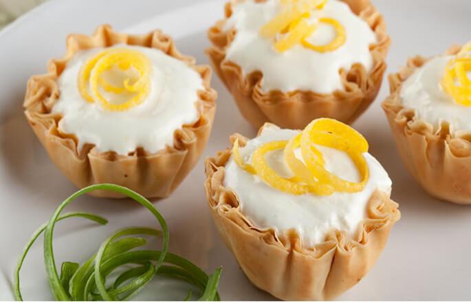 "Honey Pistachio Phyllo ""Bread Sticks"" Frozen Lemon Phyllo Clouds ..."