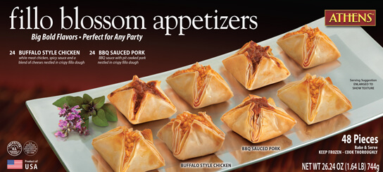 Fillo blossom appetizers athens foods