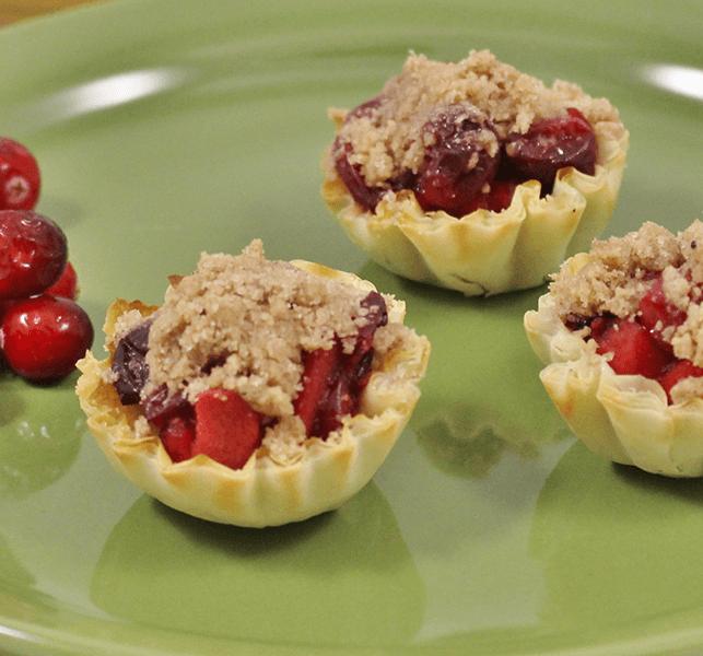 Mini Pastry Shells | Cran-Apple Crisps
