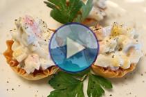 mini crab salad tartlets recipe