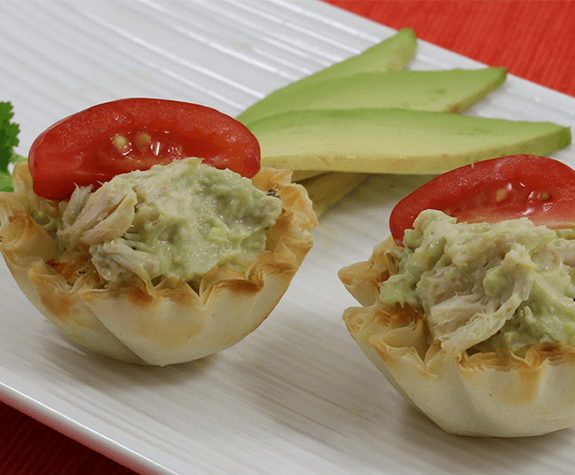 Chicken Avocado Mini Shells