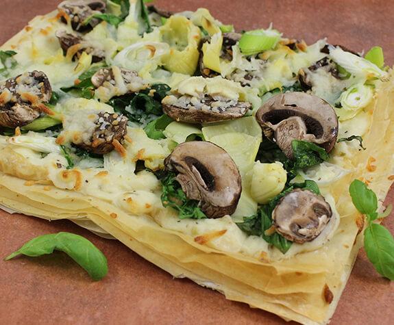 White Phyllo Pizza