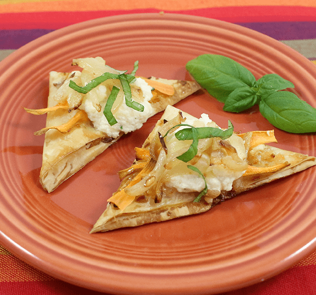 Sweet Potato & Caramelized Onion Phyllo Wedges | Party Appetizer
