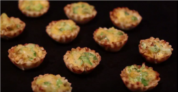 Broccoli and Cheese Phyllo Shells
