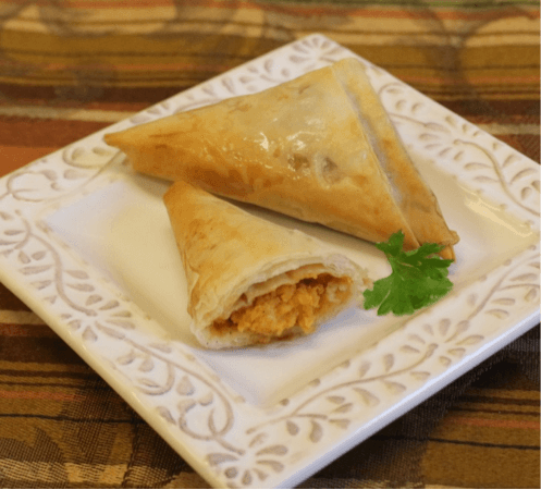 Phyllo Sweet Potato Triangles - Athens Foods
