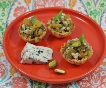 Apricot Pistachio Mini Fillo Shell Canapes Gourmet Appetizers
