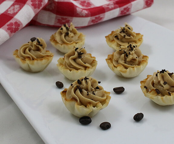 Coffee Mousse Mini Phyllo Tarts