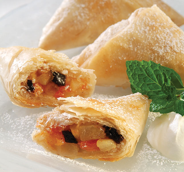Fruit Compote Phyllo Triangles - Athens Foods