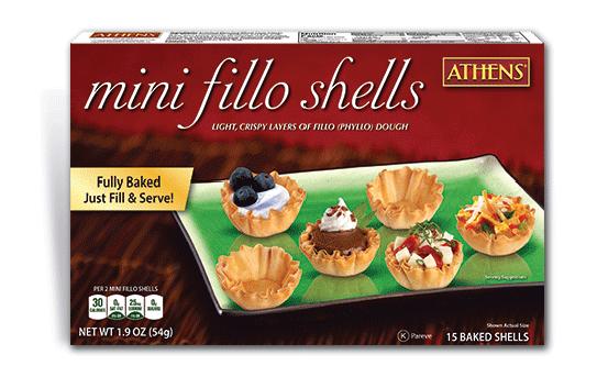 Mini Fillo Shells