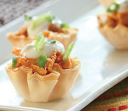 Buffalo Wing Phyllo Bites Football Game Food