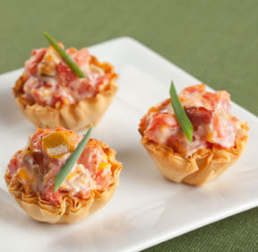 Ro tel phyllo cups game day food ideas for Phyllo dough recipes appetizers indian