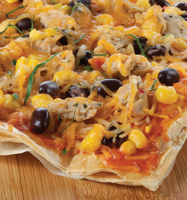 Mexican-Phyllo-Pizza