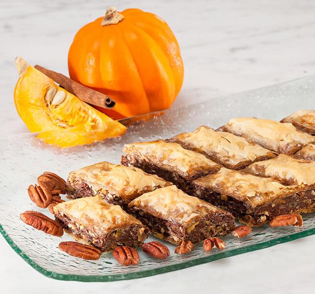 Pumpkin Pecan Baklava