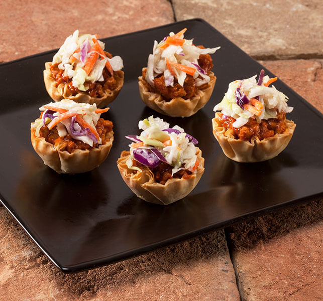 Mini Sloppy Joe Phyllo Cups Simple Appetizers