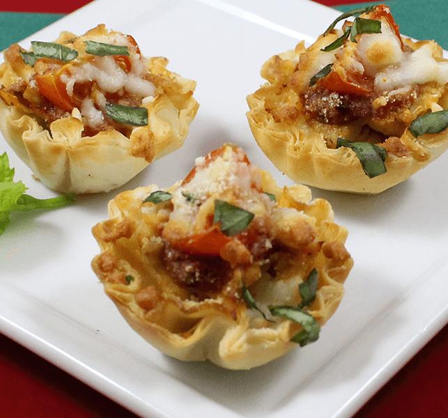 Easy Thanksgiving Appetizers Turkey Parmesan Mini Shells