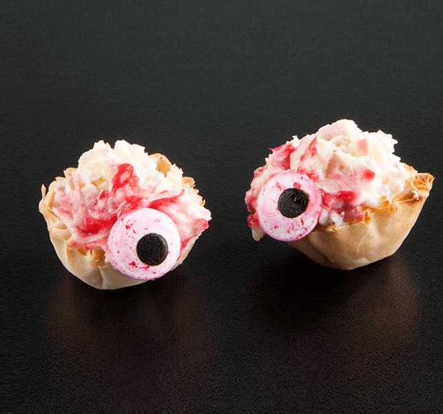 Halloween Desserts | Bloody Eyeball Phyllo Treats