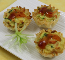 Tofu Veggie Mini Fillo Shell Vegetarian Appetizers for Parties