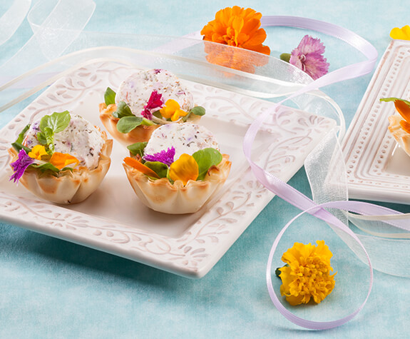 Goat Cheese Bouquet Phyllo Shells