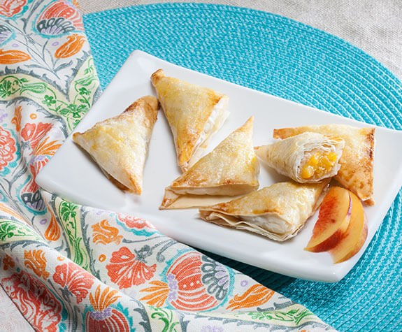 Peach and Cardamom Phyllo Turnover