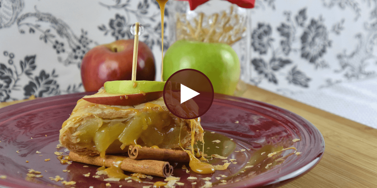 Easy Apple Phyllo Strudel with Salted Caramel - Athens Foods