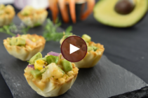 Athens Lime Shrimp Avocado Phyllo Bites