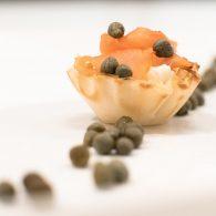 lox & cream cheese phyllo bites healthy snack