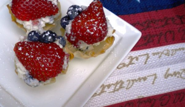 Red White Blue Cannoli Sliders - Athens Foods