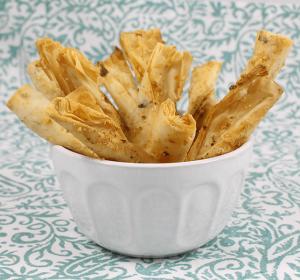 Pistachio Phyllo Bread Sticks