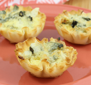 Zucchini Sundried Tomato Mini Quiches - Athens Foods